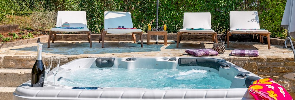 Whirpool and sun loungers